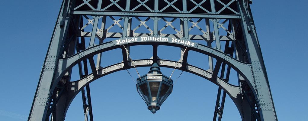 Kaiser-Wilhelm-Brücke Schriftzug